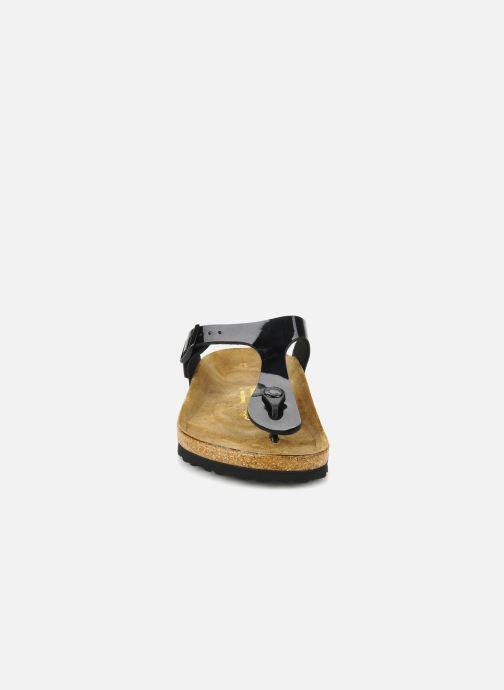 Clogs og træsko Birkenstock Gizeh Flor W Sort se skoene på