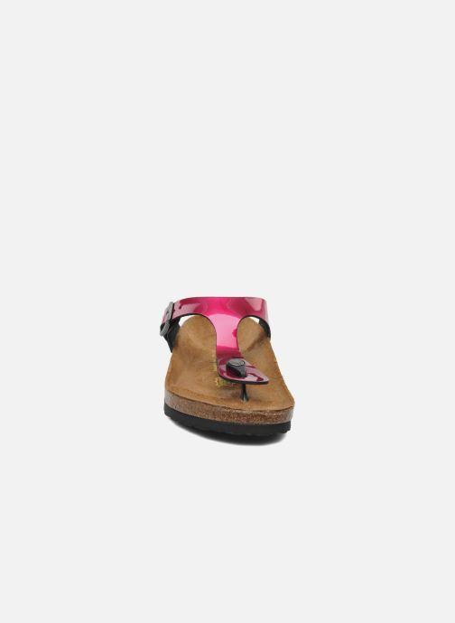 Mules et sabots Birkenstock Gizeh Flor W Violet vue portées chaussures