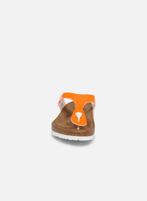 Mules et sabots Birkenstock Gizeh Flor W Orange vue portées chaussures