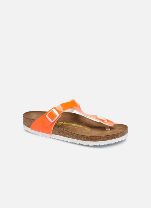 Clogs & Pantoletten Birkenstock Gizeh Flor W orange detaillierte ansicht/modell