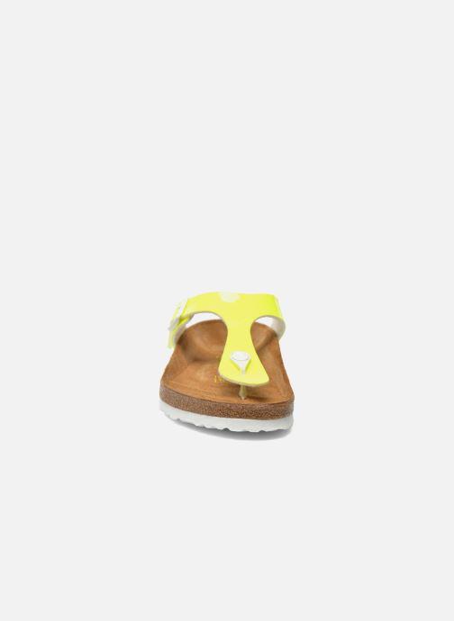 Clogs & Pantoletten Birkenstock Gizeh Flor W gelb schuhe getragen