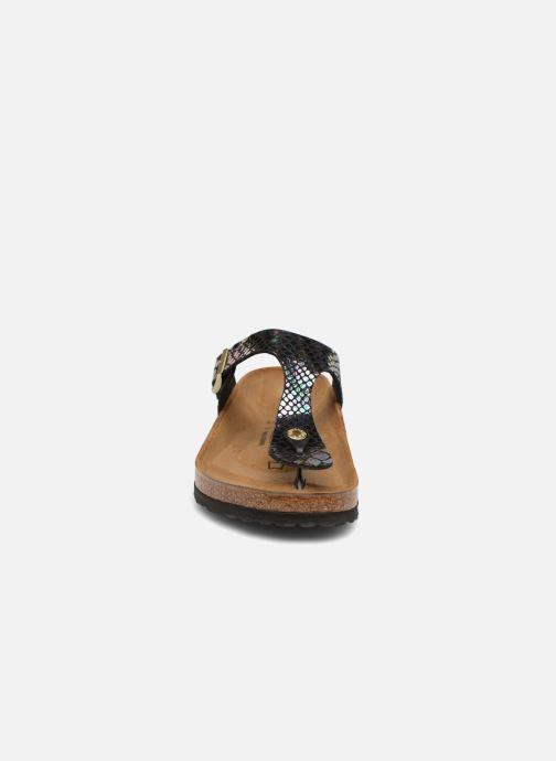 Mules et sabots Birkenstock Gizeh Flor W Noir vue portées chaussures