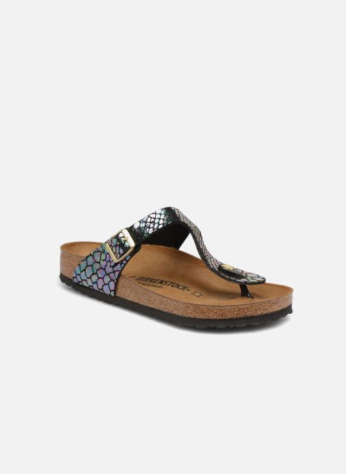Clogs og træsko Birkenstock Gizeh Flor W Sort detaljeret billede af skoene