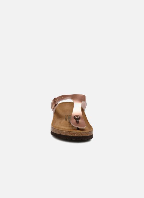 Mules et sabots Birkenstock Gizeh Flor W Rose vue portées chaussures