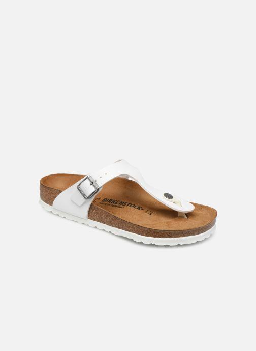Clogs og træsko Birkenstock Gizeh Flor W Hvid detaljeret billede af skoene