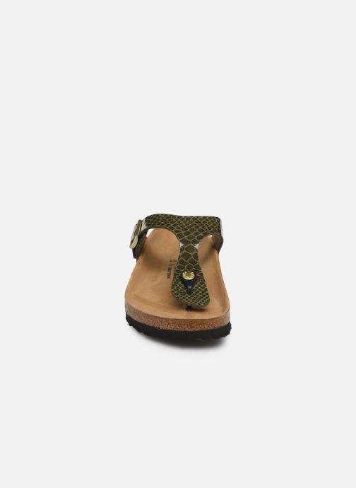 Mules et sabots Birkenstock Gizeh Flor W Vert vue portées chaussures