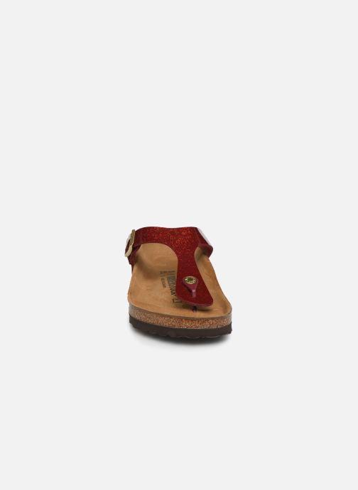 Clogs & Pantoletten Birkenstock Gizeh Flor W rot schuhe getragen