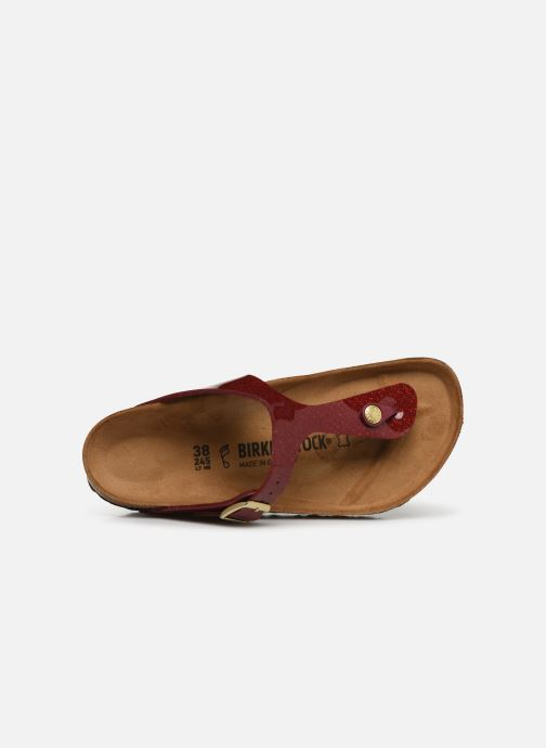 Mules & clogs Birkenstock Gizeh Flor W Red view from the left