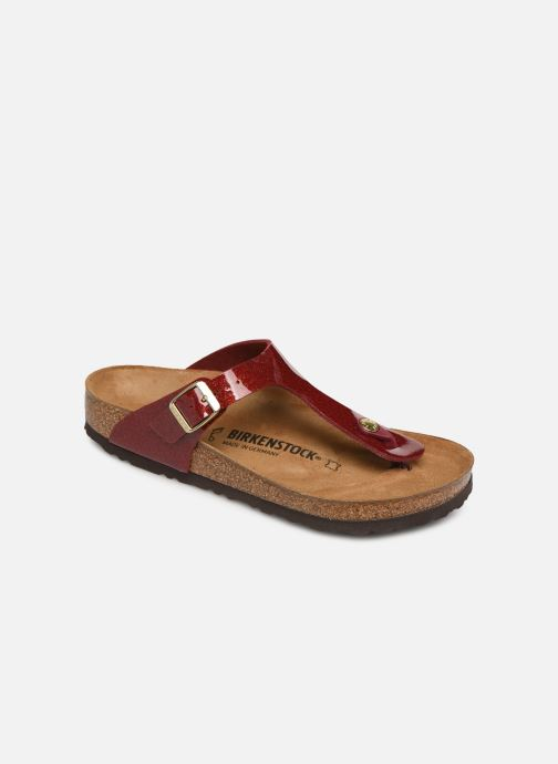Mules & clogs Birkenstock Gizeh Flor W Red detailed view/ Pair view