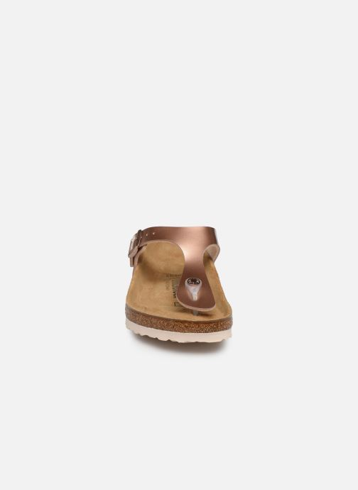 Sandales et nu-pieds Birkenstock Gizeh Flor W Rose vue portées chaussures