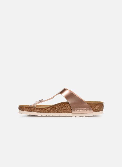 Sandales et nu-pieds Birkenstock Gizeh Flor W Rose vue face