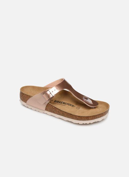 Clogs og træsko Birkenstock Gizeh Flor W Pink detaljeret billede af skoene