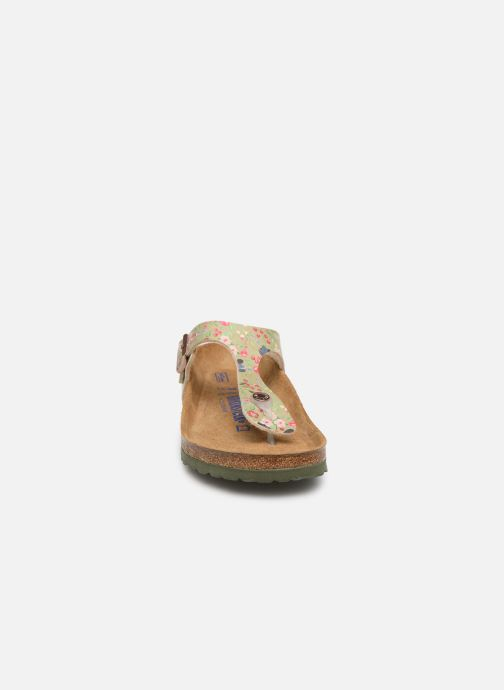 Clogs & Pantoletten Birkenstock Gizeh Flor W mehrfarbig schuhe getragen