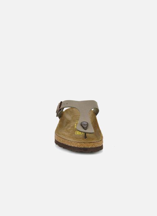 Mules et sabots Birkenstock Gizeh Flor W Gris vue portées chaussures