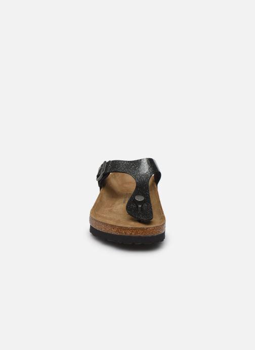 Clogs & Pantoletten Birkenstock Gizeh Flor W schwarz schuhe getragen