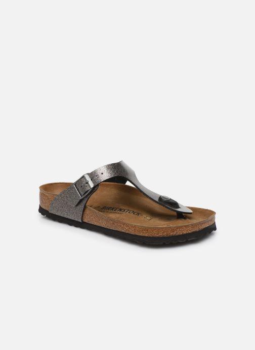 Clogs og træsko Birkenstock Gizeh Flor W Sølv detaljeret billede af skoene