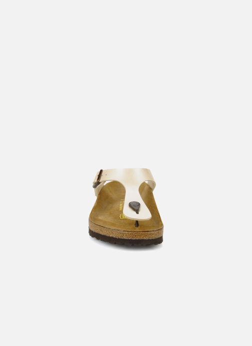 Clogs & Pantoletten Birkenstock Gizeh Flor W beige schuhe getragen