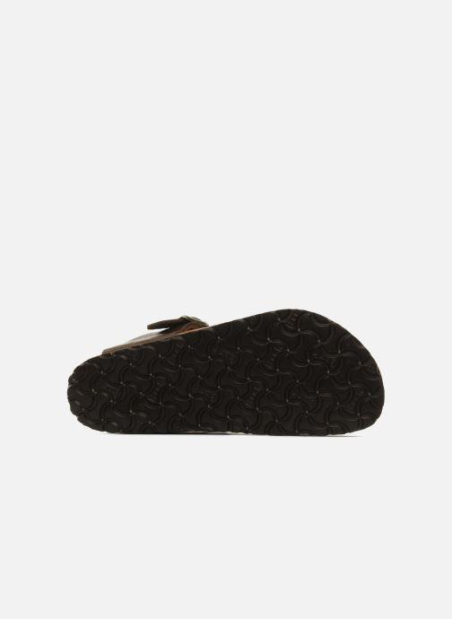 Sandales et nu-pieds Birkenstock Gizeh Flor W Marron vue haut