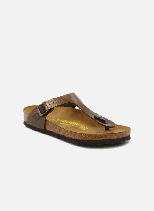 Sandales et nu-pieds Birkenstock Gizeh Flor W Marron vue détail/paire
