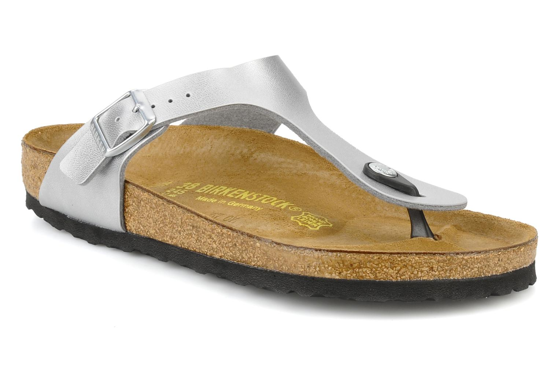 Sandales et nu-pieds Birkenstock Gizeh Flor W Argent vue détail/paire