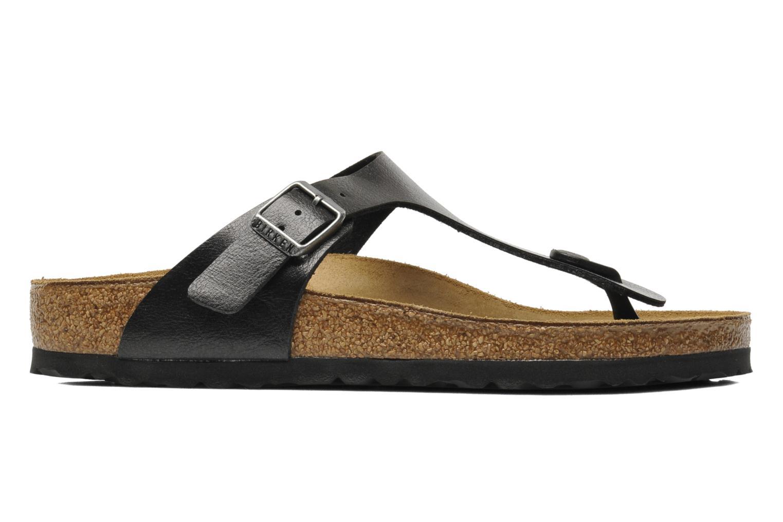 Sandales et nu-pieds Birkenstock Gizeh Flor W Noir vue derrière
