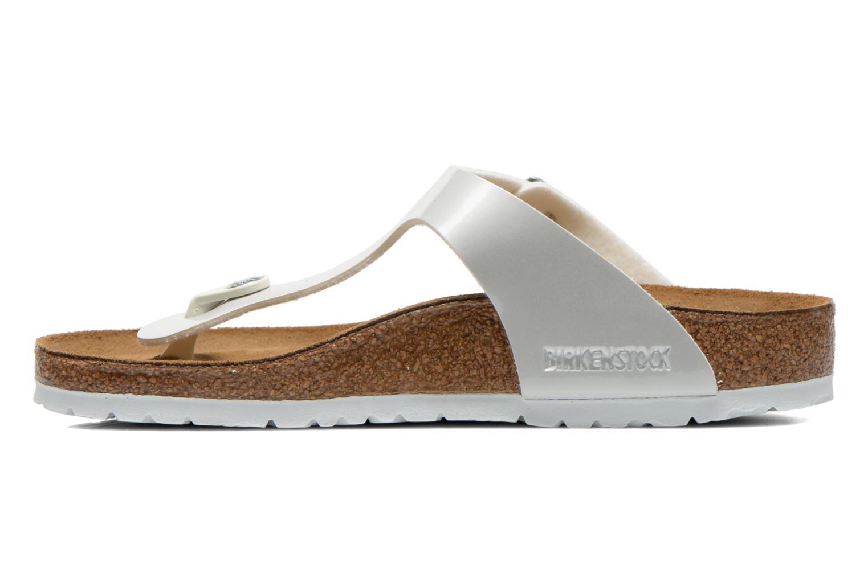 Sandales et nu-pieds Birkenstock Gizeh Flor W Blanc vue face