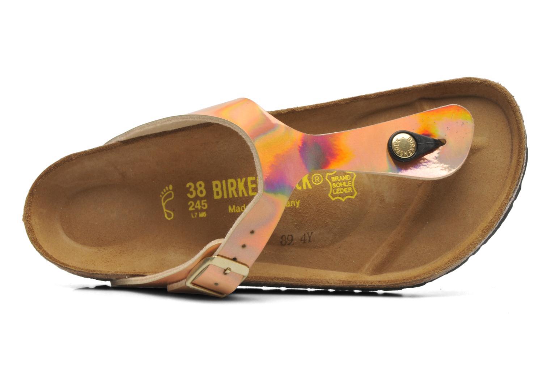Sandales et nu-pieds Birkenstock Gizeh Flor W Rose vue gauche