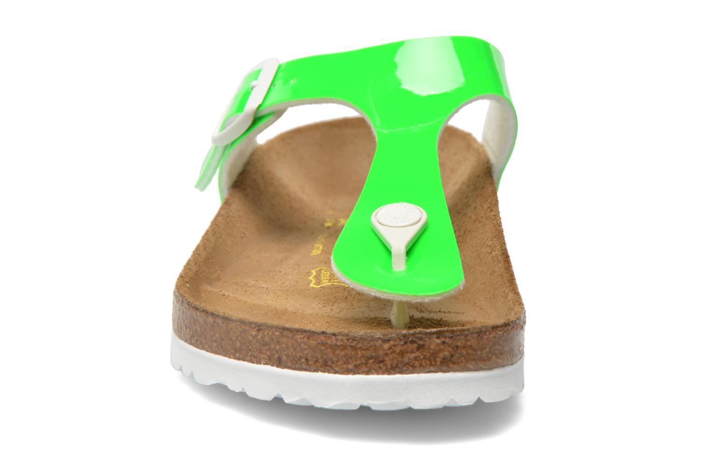 Sandales et nu-pieds Birkenstock Gizeh Flor W Vert vue portées chaussures