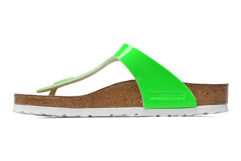Sandales et nu-pieds Birkenstock Gizeh Flor W Vert vue face