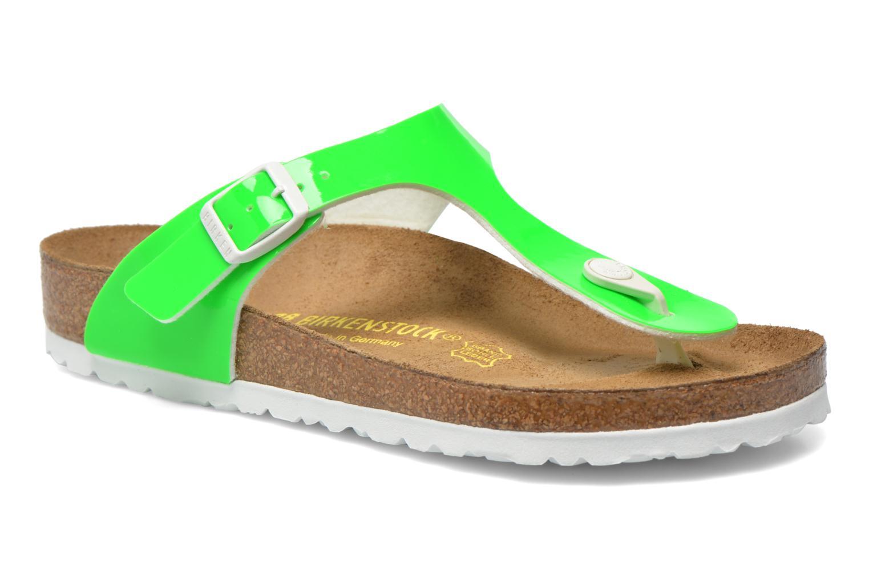 Sandales et nu-pieds Birkenstock Gizeh Flor W Vert vue détail/paire