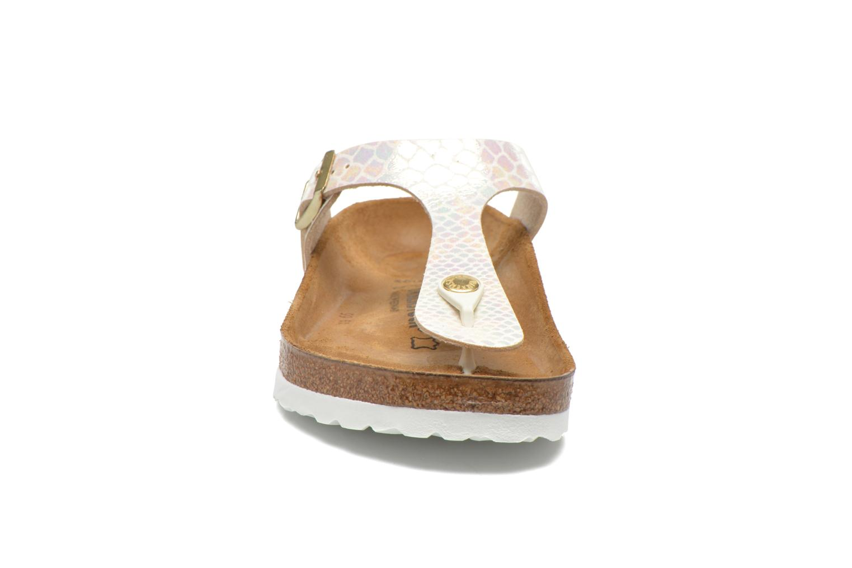Sandales et nu-pieds Birkenstock Gizeh Flor W Beige vue portées chaussures