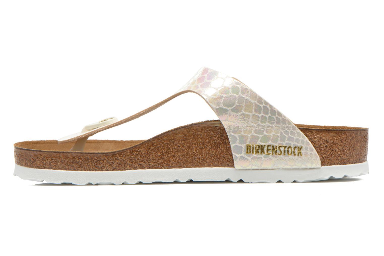 Sandales et nu-pieds Birkenstock Gizeh Flor W Beige vue face