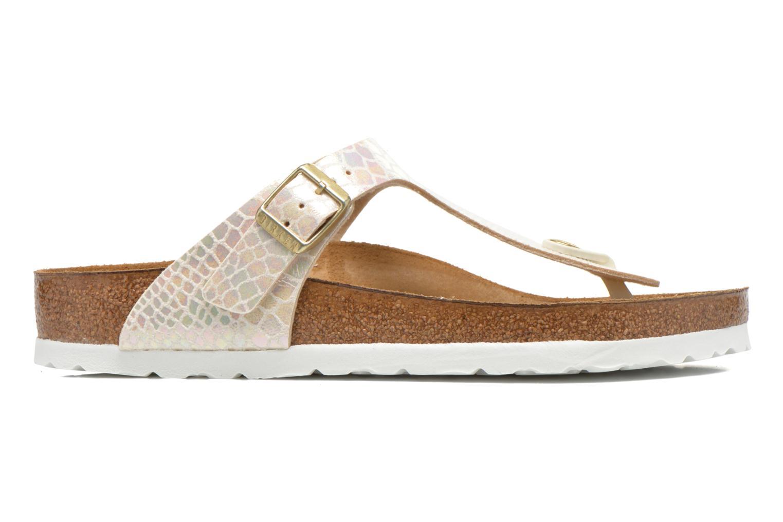 Sandales et nu-pieds Birkenstock Gizeh Flor W Beige vue derrière