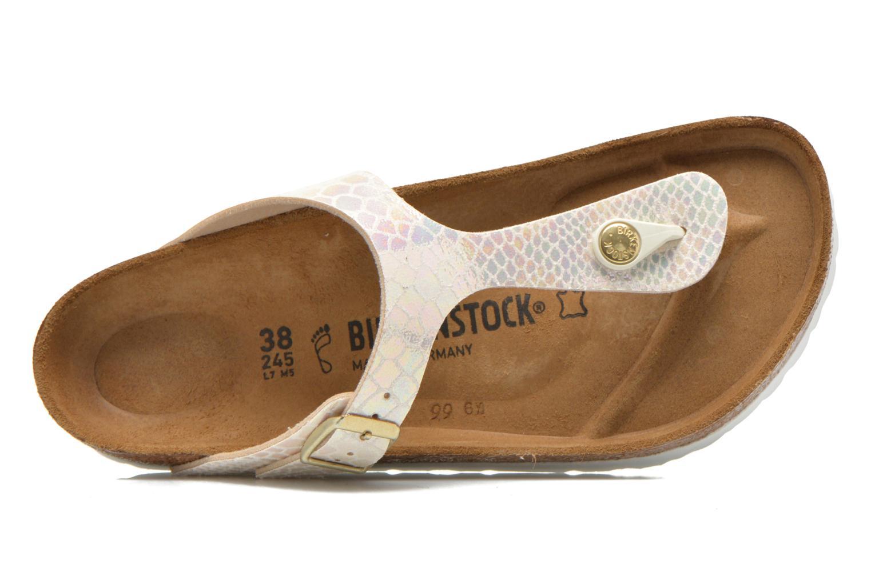 Sandales et nu-pieds Birkenstock Gizeh Flor W Beige vue gauche