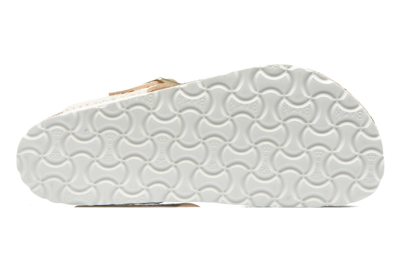Sandales et nu-pieds Birkenstock Gizeh Flor W Beige vue haut