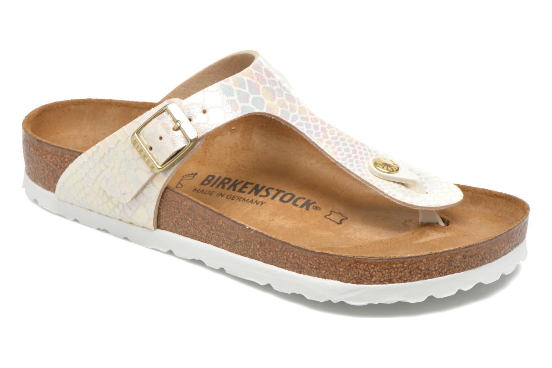Sandales et nu-pieds Birkenstock Gizeh Flor W Beige vue détail/paire
