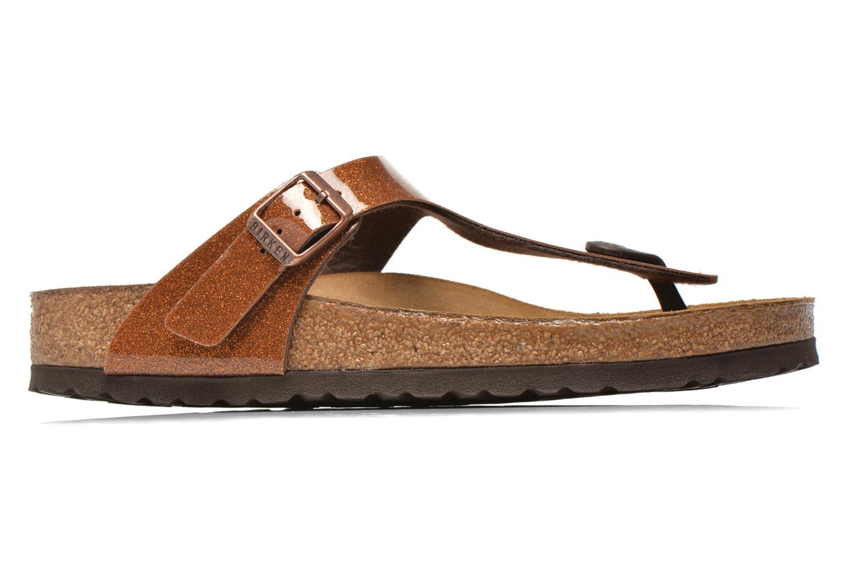 Sandales et nu-pieds Birkenstock Gizeh Flor W Marron vue derrière