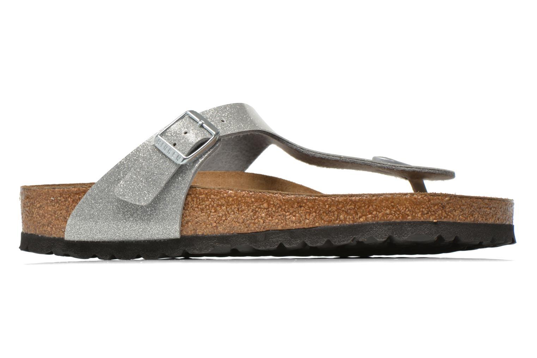 Sandales et nu-pieds Birkenstock Gizeh Flor W Argent vue derrière
