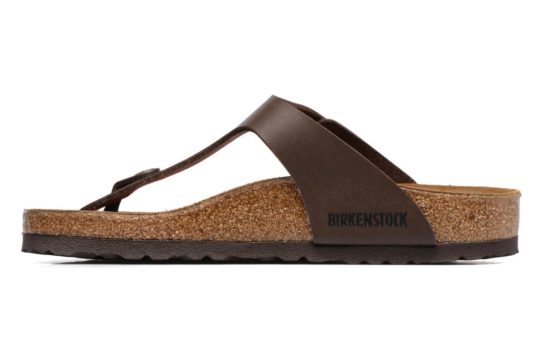 Sandales et nu-pieds Birkenstock Gizeh Flor W Marron vue face