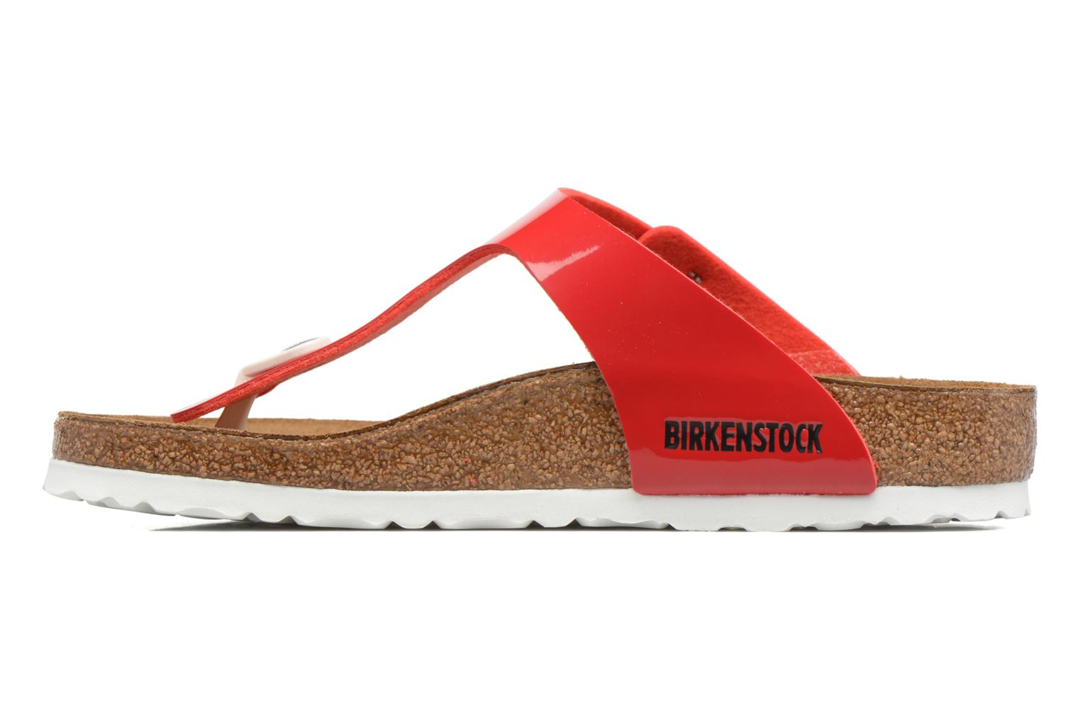 Sandals Birkenstock Gizeh Flor W Red front view
