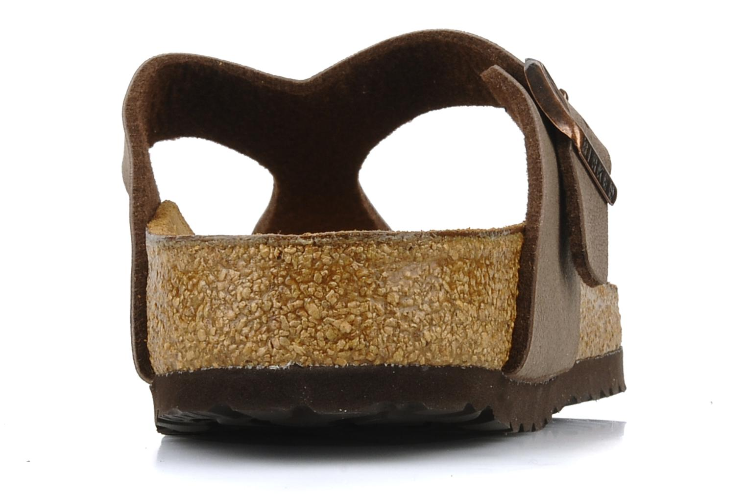 Sandals Birkenstock Gizeh Flor W Brown view from the right