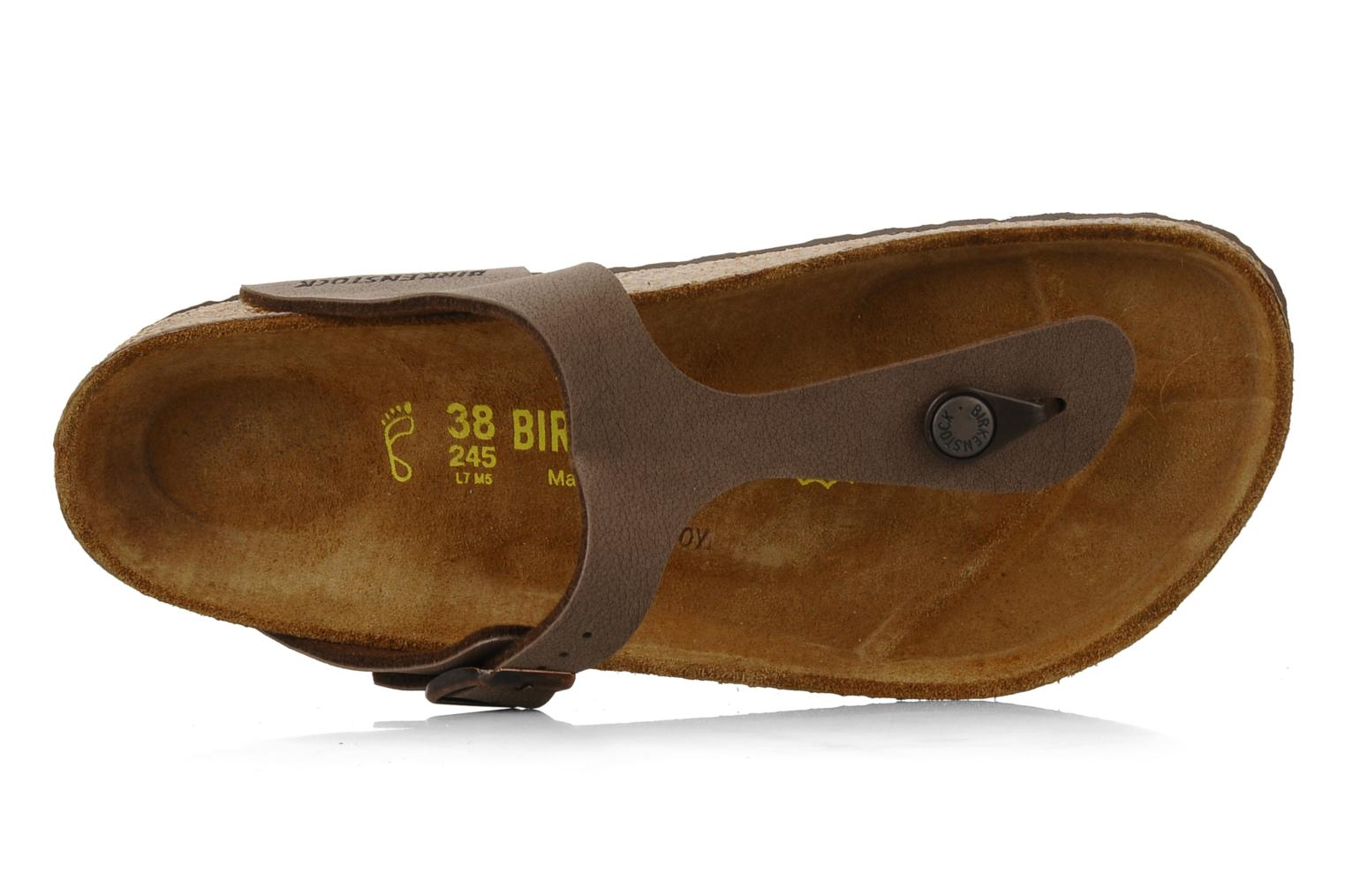 Sandals Birkenstock Gizeh Flor W Brown view from the left