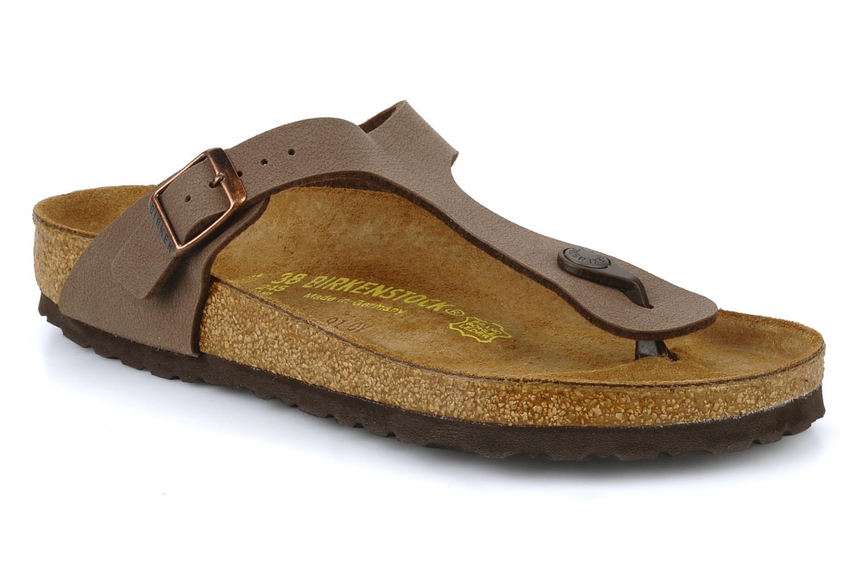 4b3e1ca302f Birkenstock Gizeh Flor W (Brown) - Sandals chez Sarenza (7159)