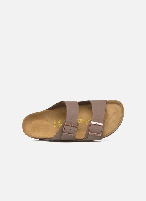 Sandalen Birkenstock Arizona Flor M Bruin links