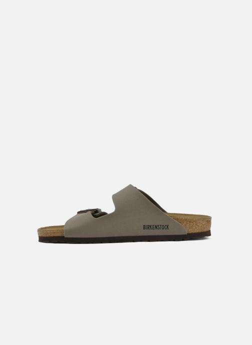 Sandals Birkenstock Arizona Flor M Grey front view