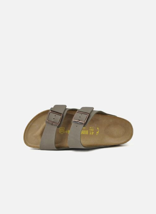 Sandals Birkenstock Arizona Flor M Grey view from the left