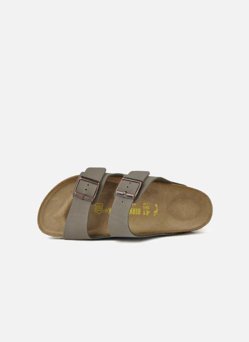 Sandales et nu-pieds Birkenstock Arizona Flor M Gris vue gauche