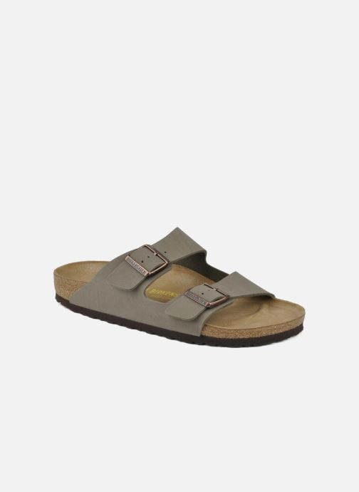 Sandals Birkenstock Arizona Flor M Grey detailed view/ Pair view
