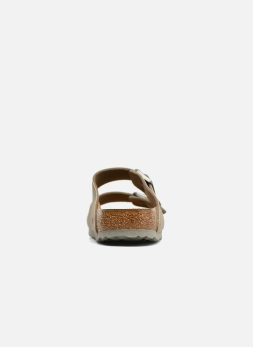 Sandals Birkenstock Arizona Flor M Brown view from the right