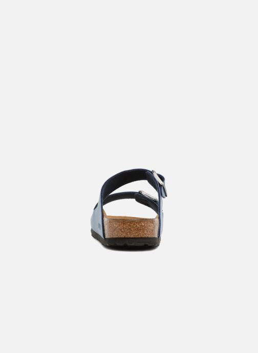 Sandals Birkenstock Arizona Flor M Blue view from the right